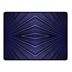 Blue Metal Abstract Alternative Version Double Sided Fleece Blanket (Small)