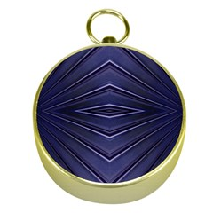 Blue Metal Abstract Alternative Version Gold Compasses
