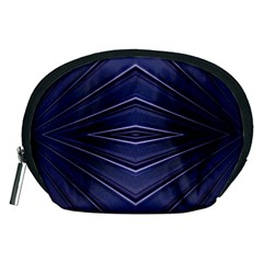 Blue Metal Abstract Alternative Version Accessory Pouches (Medium)