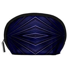Blue Metal Abstract Alternative Version Accessory Pouches (Large)