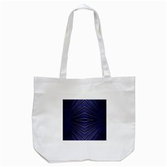 Blue Metal Abstract Alternative Version Tote Bag (White)