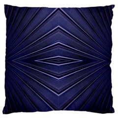 Blue Metal Abstract Alternative Version Large Flano Cushion Case (one Side)