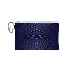 Blue Metal Abstract Alternative Version Canvas Cosmetic Bag (S)