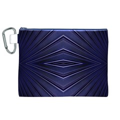 Blue Metal Abstract Alternative Version Canvas Cosmetic Bag (XL)