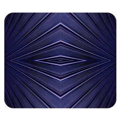 Blue Metal Abstract Alternative Version Double Sided Flano Blanket (Small)