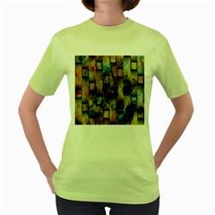 Fabric Weave Women s Green T-Shirt