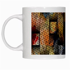 Fabric Weave White Mugs