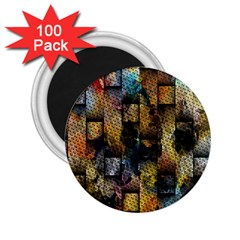 Fabric Weave 2 25  Magnets (100 Pack)