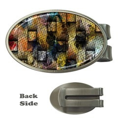 Fabric Weave Money Clips (Oval)