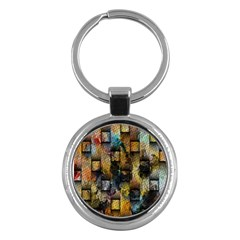 Fabric Weave Key Chains (Round)