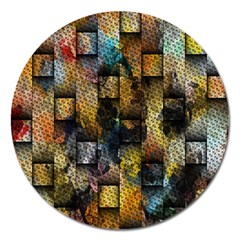 Fabric Weave Magnet 5  (Round)