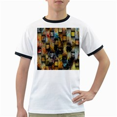 Fabric Weave Ringer T Shirts