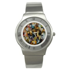 Fabric Weave Stainless Steel Watch