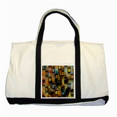 Fabric Weave Two Tone Tote Bag