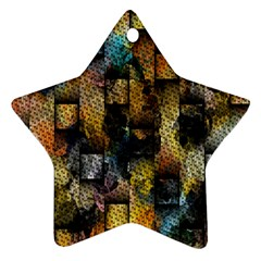 Fabric Weave Star Ornament (two Sides)