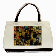 Fabric Weave Basic Tote Bag (two Sides)