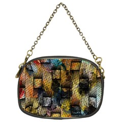 Fabric Weave Chain Purses (two Sides)