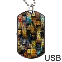 Fabric Weave Dog Tag Usb Flash (two Sides)