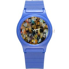 Fabric Weave Round Plastic Sport Watch (S)