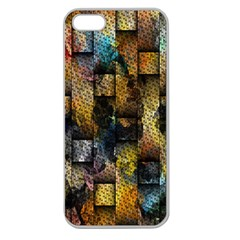 Fabric Weave Apple Seamless iPhone 5 Case (Clear)