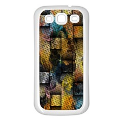 Fabric Weave Samsung Galaxy S3 Back Case (White)