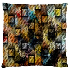 Fabric Weave Large Flano Cushion Case (Two Sides)
