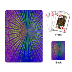 Blue Fractal That Looks Like A Starburst Playing Card