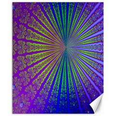 Blue Fractal That Looks Like A Starburst Canvas 16  X 20