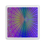 Blue Fractal That Looks Like A Starburst Memory Card Reader (Square)  Front