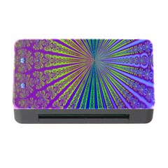 Blue Fractal That Looks Like A Starburst Memory Card Reader With Cf