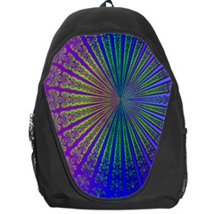 Blue Fractal That Looks Like A Starburst Backpack Bag