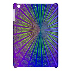 Blue Fractal That Looks Like A Starburst Apple iPad Mini Hardshell Case