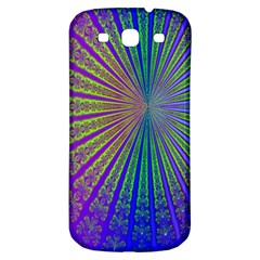 Blue Fractal That Looks Like A Starburst Samsung Galaxy S3 S Iii Classic Hardshell Back Case