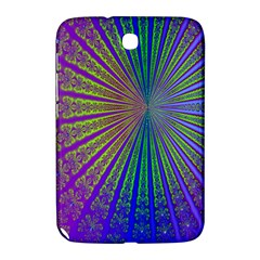 Blue Fractal That Looks Like A Starburst Samsung Galaxy Note 8.0 N5100 Hardshell Case