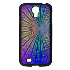 Blue Fractal That Looks Like A Starburst Samsung Galaxy S4 I9500/ I9505 Case (Black)