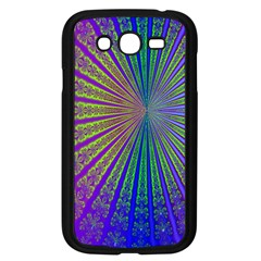 Blue Fractal That Looks Like A Starburst Samsung Galaxy Grand Duos I9082 Case (black)
