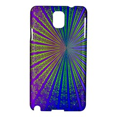 Blue Fractal That Looks Like A Starburst Samsung Galaxy Note 3 N9005 Hardshell Case