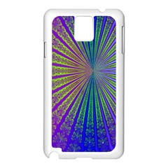 Blue Fractal That Looks Like A Starburst Samsung Galaxy Note 3 N9005 Case (white)