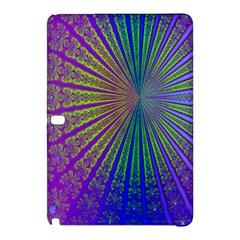 Blue Fractal That Looks Like A Starburst Samsung Galaxy Tab Pro 12.2 Hardshell Case