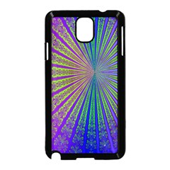 Blue Fractal That Looks Like A Starburst Samsung Galaxy Note 3 Neo Hardshell Case (black)