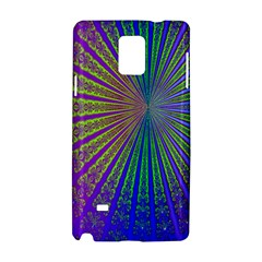 Blue Fractal That Looks Like A Starburst Samsung Galaxy Note 4 Hardshell Case