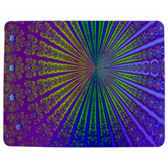 Blue Fractal That Looks Like A Starburst Jigsaw Puzzle Photo Stand (rectangular)