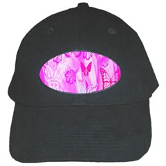 Butterfly Cut Out Pattern Colorful Colors Black Cap