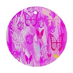 Butterfly Cut Out Pattern Colorful Colors Ornament (round)