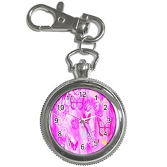 Butterfly Cut Out Pattern Colorful Colors Key Chain Watches