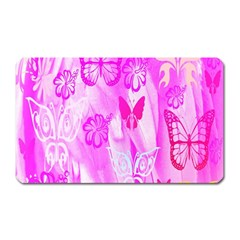 Butterfly Cut Out Pattern Colorful Colors Magnet (rectangular)