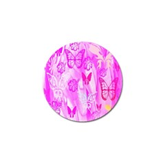 Butterfly Cut Out Pattern Colorful Colors Golf Ball Marker