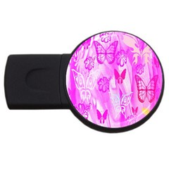 Butterfly Cut Out Pattern Colorful Colors Usb Flash Drive Round (2 Gb)