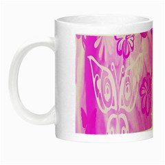 Butterfly Cut Out Pattern Colorful Colors Night Luminous Mugs
