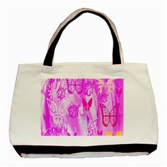 Butterfly Cut Out Pattern Colorful Colors Basic Tote Bag